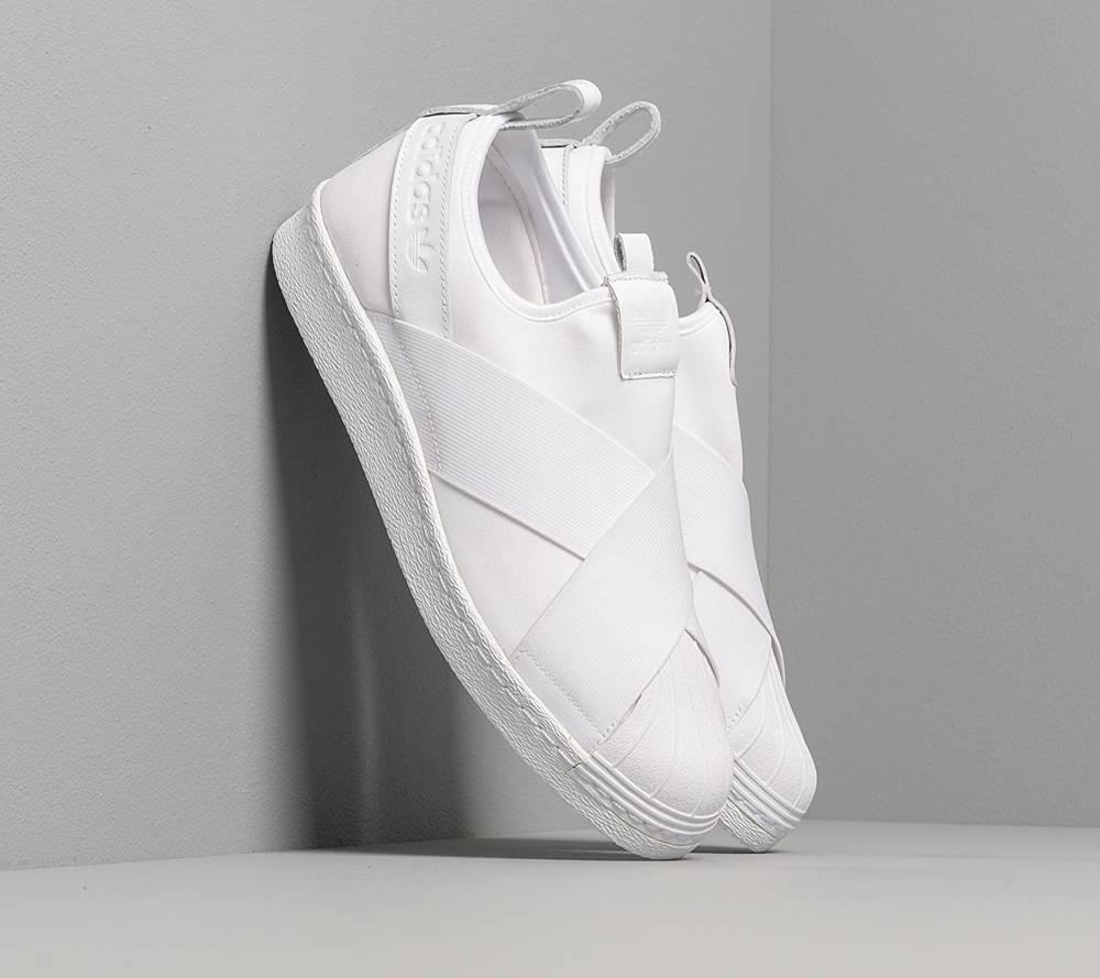 adidas Originals adidas Superstar Slip On Ftw White/ Ftw White/ Ftw White