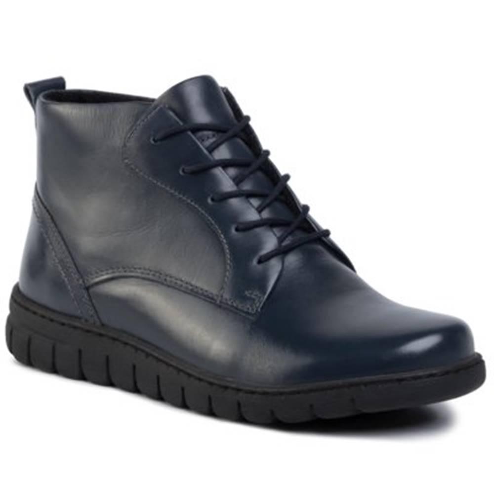 GO SOFT Šnurovacia obuv GO SOFT WI23-GHANA-02 Prírodná koža(useň) - Lícova