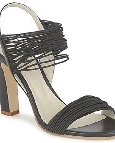 Čierne sandále Jil Sander