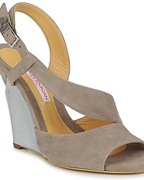Hnedé sandále Charles Jourdan