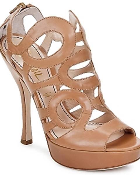 Hnedé sandále Jerome C. Rousseau