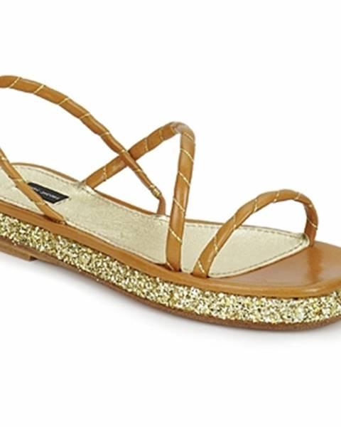 Hnedé sandále Marc Jacobs