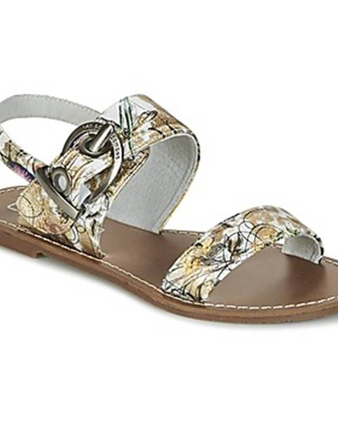 Biele sandále Les Petites Bombes