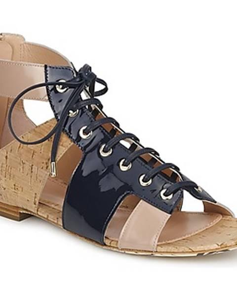 Modré sandále John Galliano