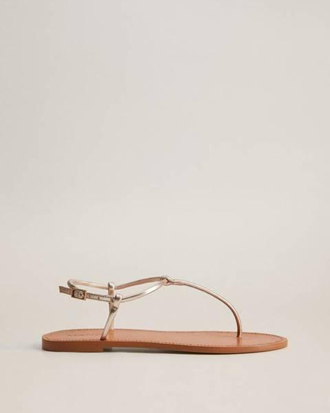 Zlaté sandále mango