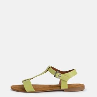 Zelené kožené sandále Tamaris