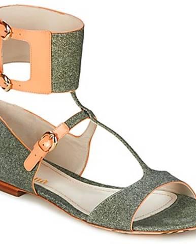 Zelené sandále John Galliano