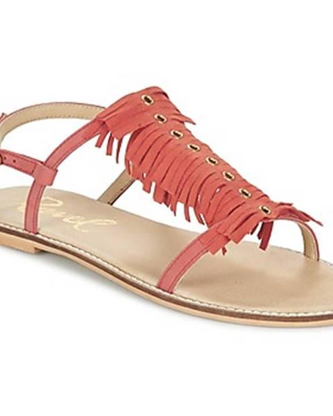 Oranžové sandále Ravel