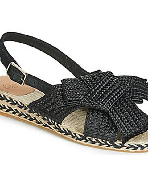 Čierne sandále Castaner
