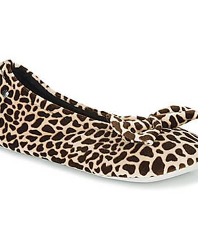 Hnedé papuče Isotoner