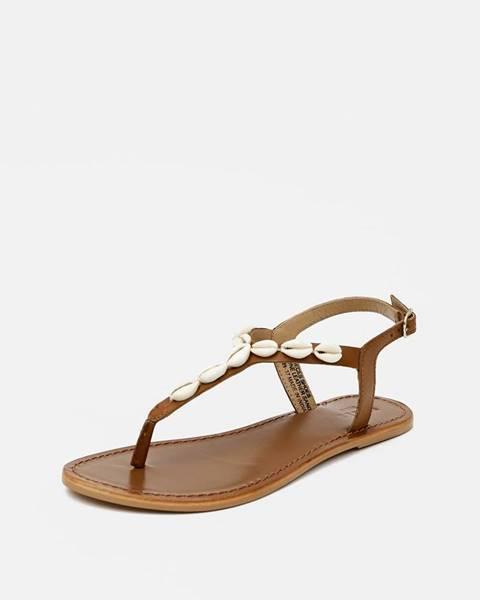Hnedé sandále Pieces