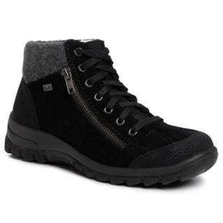 Šnurovacia obuv Rieker L7132-01 Prírodná koža(useň) - Zamš